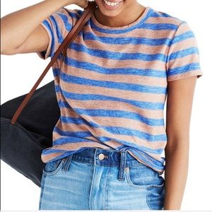 Madewell | Hi-Fi Shrunken Tee Royal Blue/Cameo